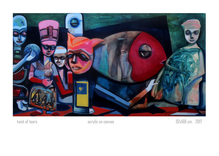 twist of tears by Gyanendra Pratap Singh - search and link Fine Art with ARTdefs.com