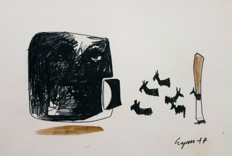 The visitors  by Gyanendra Pratap Singh - search and link Fine Art with ARTdefs.com