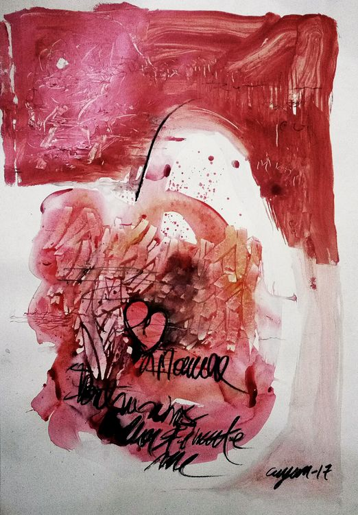 Heartbeat scratches  by Gyanendra Pratap Singh - search and link Fine Art with ARTdefs.com