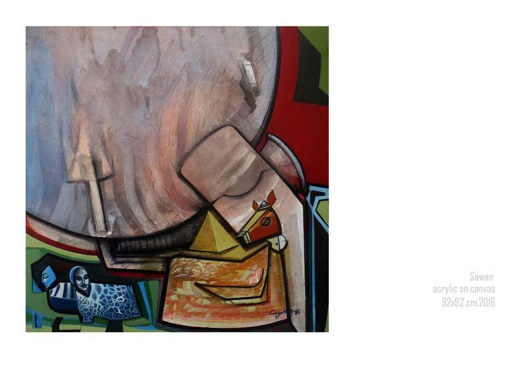 Sawan by Gyanendra Pratap Singh - search and link Fine Art with ARTdefs.com