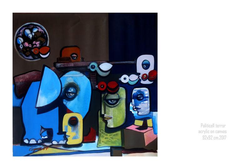 political terror  by Gyanendra Pratap Singh - search and link Fine Art with ARTdefs.com