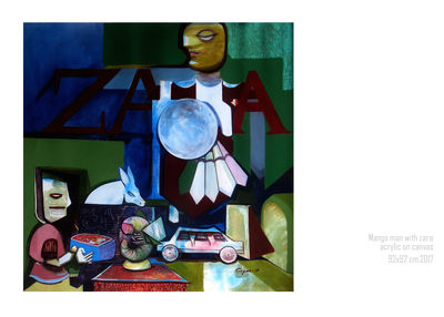 mango man with Zara by Gyanendra Pratap Singh - search and link Fine Art with ARTdefs.com
