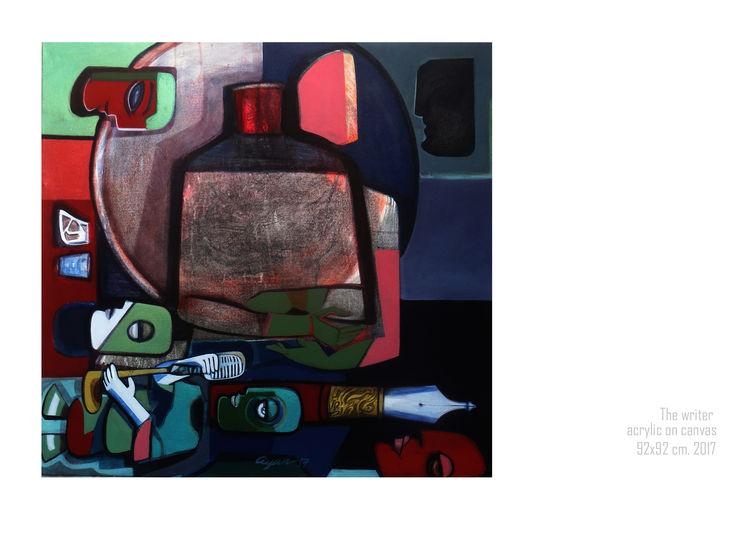 The writer by Gyanendra Pratap Singh - search and link Fine Art with ARTdefs.com