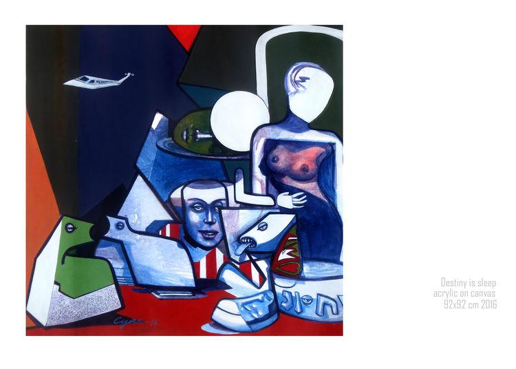 Destiny is sleep by Gyanendra Pratap Singh - search and link Fine Art with ARTdefs.com