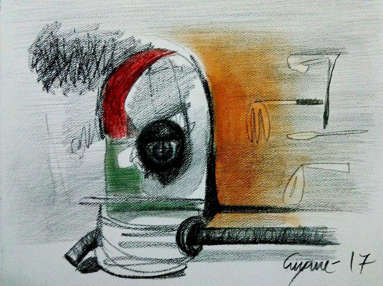 A common man Advantage  by Gyanendra Pratap Singh - search and link Fine Art with ARTdefs.com