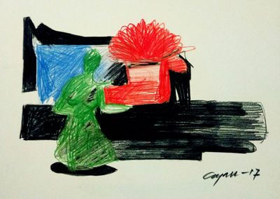 color flower by Gyanendra Pratap Singh - search and link Fine Art with ARTdefs.com