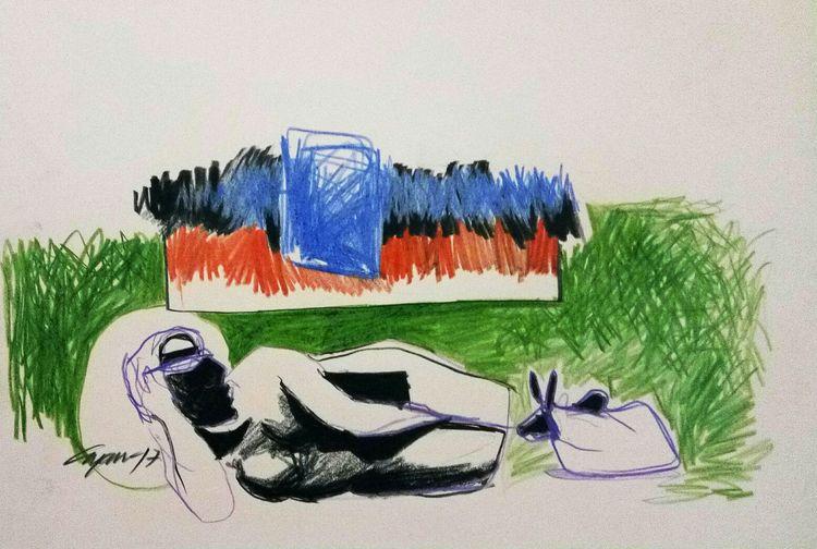 taste of Indian sprichual  by Gyanendra Pratap Singh - search and link Fine Art with ARTdefs.com
