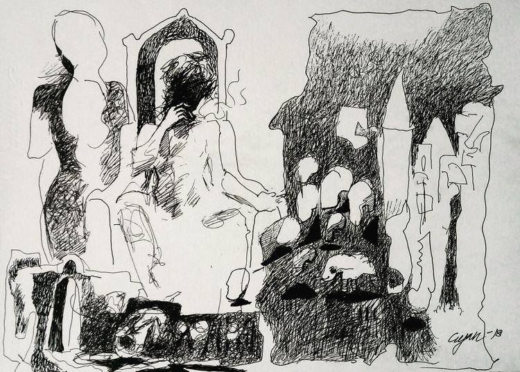 Both are selfish  by Gyanendra Pratap Singh - search and link Fine Art with ARTdefs.com