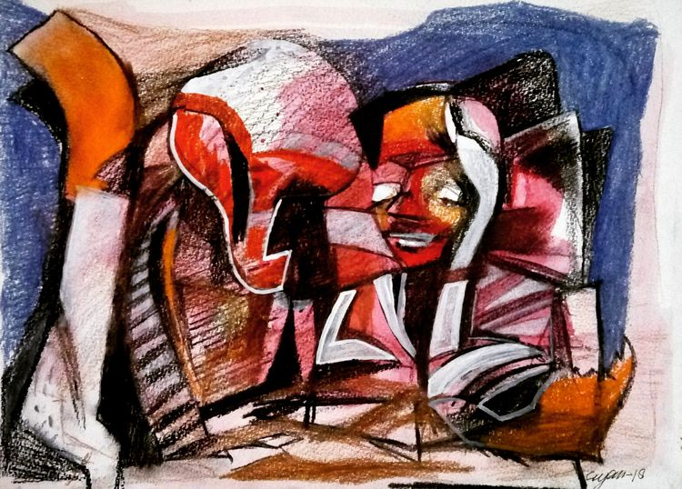 At artist by Gyanendra Pratap Singh - search and link Fine Art with ARTdefs.com