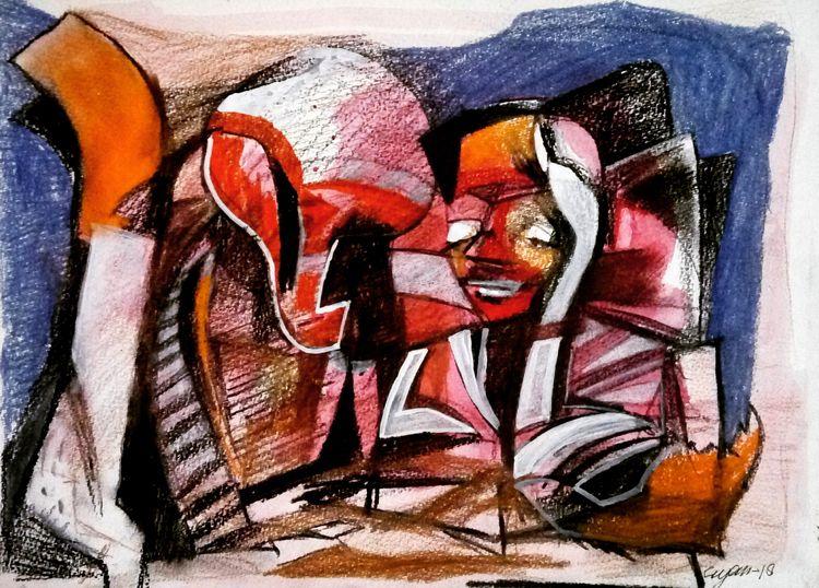 At artist by Gyanendra Pratap Singh - search and link Fine Art with ARTdefs.com