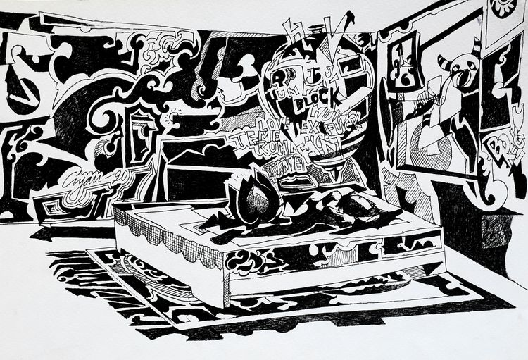 Mercy of the night  by Gyanendra Pratap Singh - search and link Fine Art with ARTdefs.com