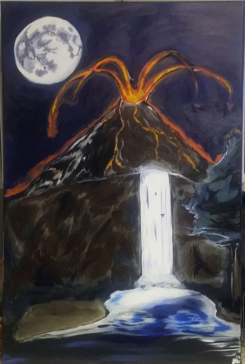 The mountain speaks by Junior Ikpe - search and link Fine Art with ARTdefs.com