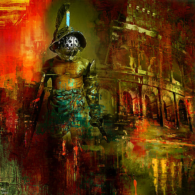 The last gladiator by Joe Ganech - search and link Fine Art with ARTdefs.com