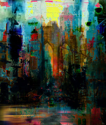 A moment in your city by Joe Ganech - search and link Fine Art with ARTdefs.com