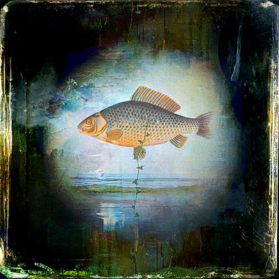The surrealist fish by Joe Ganech - search and link Fine Art with ARTdefs.com