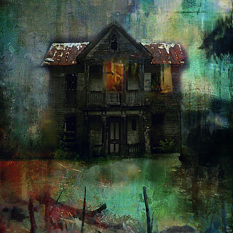 Haunted house by Joe Ganech - search and link Fine Art with ARTdefs.com