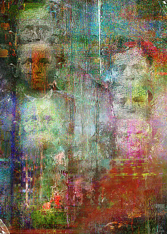 Brothers triptych by Joe Ganech - search and link Fine Art with ARTdefs.com