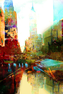 The indestructible city by Joe Ganech - search and link Fine Art with ARTdefs.com