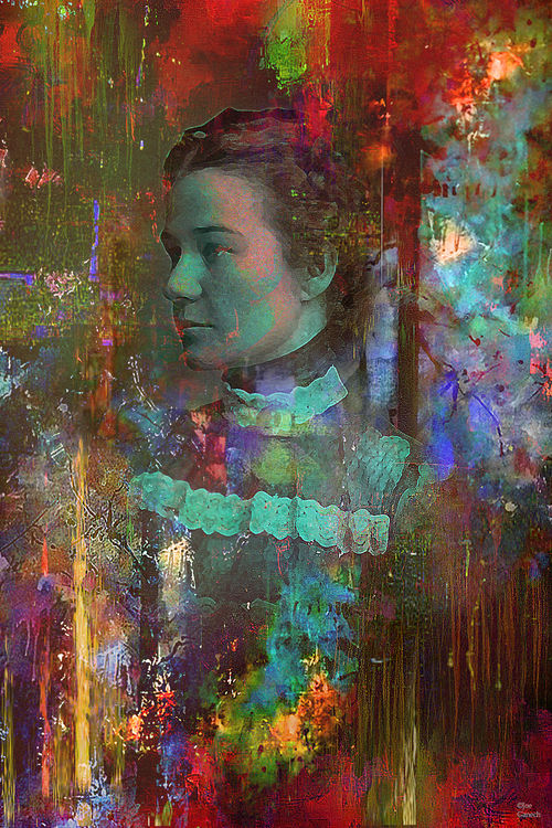 Portrait of a lady by Joe Ganech - search and link Fine Art with ARTdefs.com
