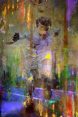 The runner by Joe Ganech - search and link Fine Art with ARTdefs.com