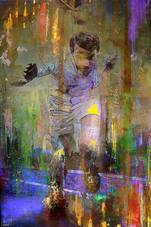 The runner by Joe Ganech - search and link Fine Art with ARTdefs.com
