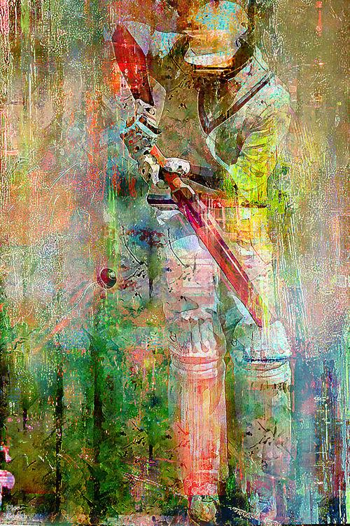 The batsman by Joe Ganech - search and link Fine Art with ARTdefs.com
