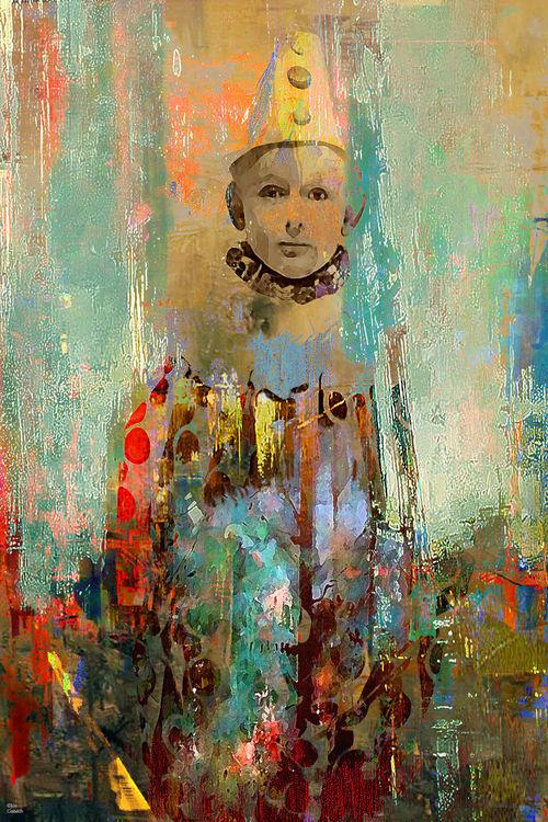 Le petit clown by Joe Ganech - search and link Fine Art with ARTdefs.com