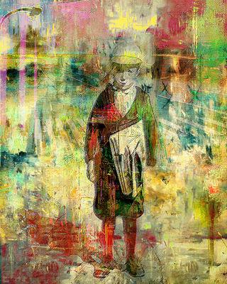 Newsboys by Joe Ganech - search and link Fine Art with ARTdefs.com