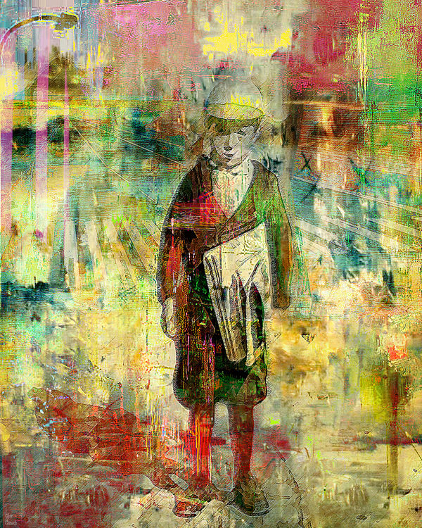 Newsboys by Joe Ganech - search and link Fine Art with ARTdefs.com