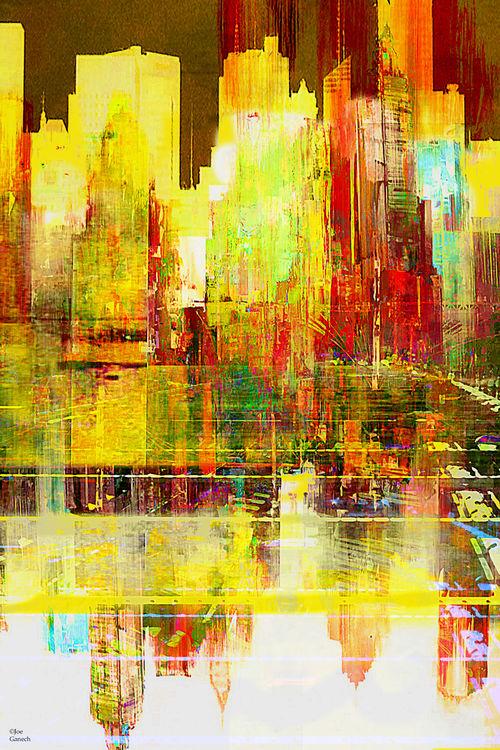 Reflection of a city by Joe Ganech - search and link Fine Art with ARTdefs.com