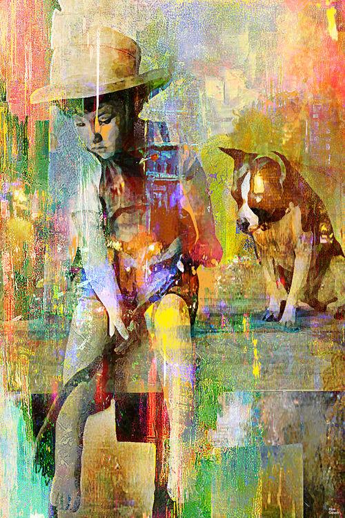Fishing by Joe Ganech - search and link Fine Art with ARTdefs.com