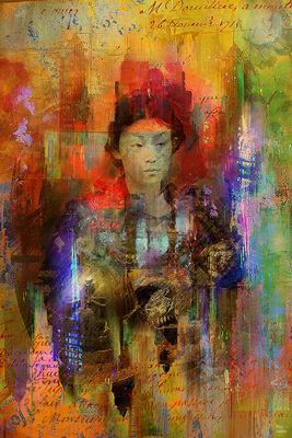 Woman samurai by Joe Ganech - search and link Fine Art with ARTdefs.com