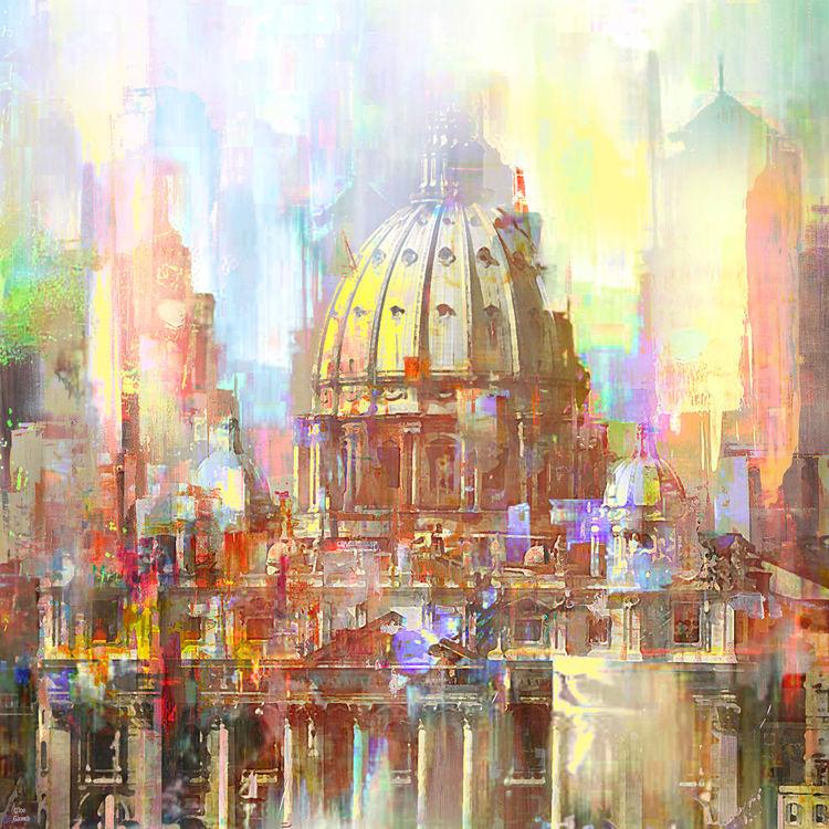 St. Peter's Basilica by Joe Ganech - search and link Fine Art with ARTdefs.com
