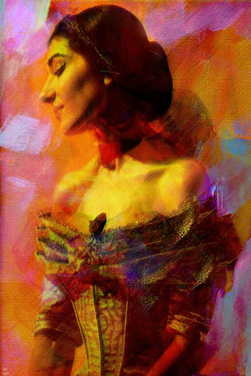 Maria Callas by Joe Ganech - search and link Fine Art with ARTdefs.com