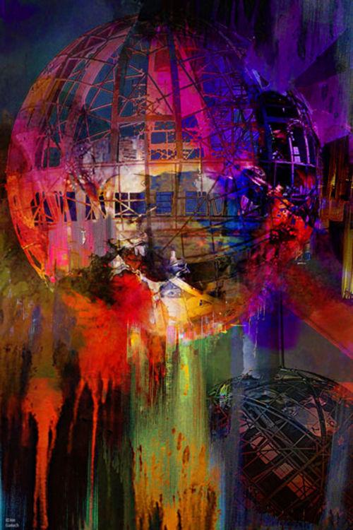 Atomium 58 by Joe Ganech - search and link Fine Art with ARTdefs.com