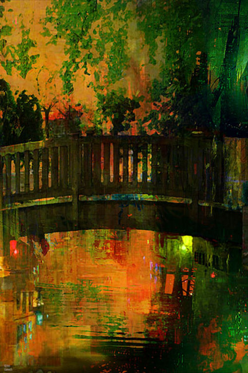 The bridge of Central Park by Joe Ganech - search and link Fine Art with ARTdefs.com