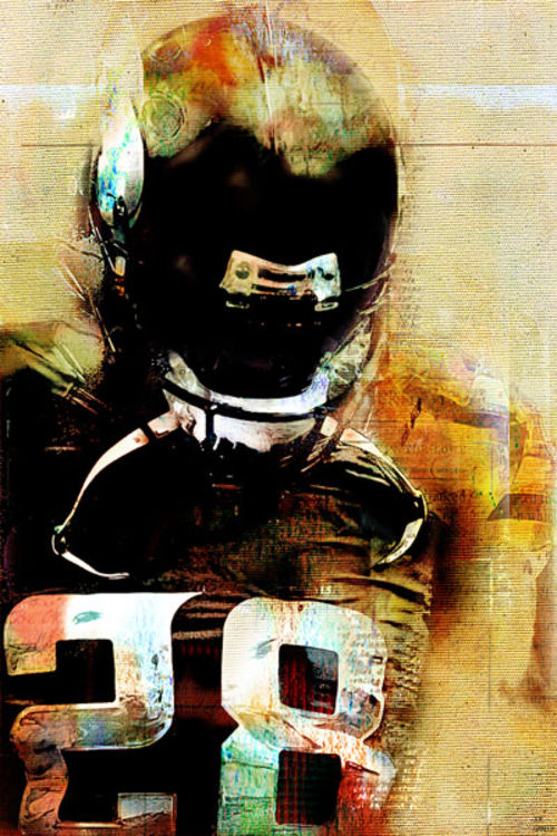 Quarterback by Joe Ganech - search and link Fine Art with ARTdefs.com