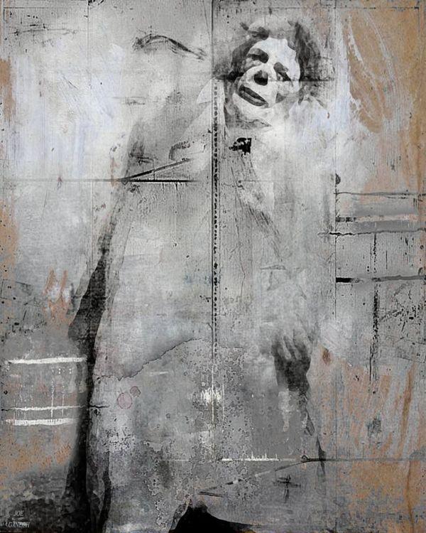 Sad clown by Joe Ganech - search and link Fine Art with ARTdefs.com