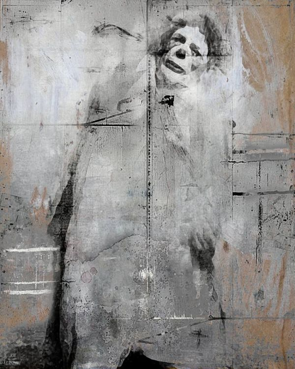 Sad clown by Joe Ganech - search and link Fine Art with ARTdefs.com
