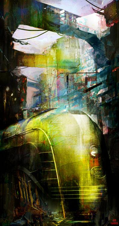 Last train to Mars by Joe Ganech - search and link Fine Art with ARTdefs.com