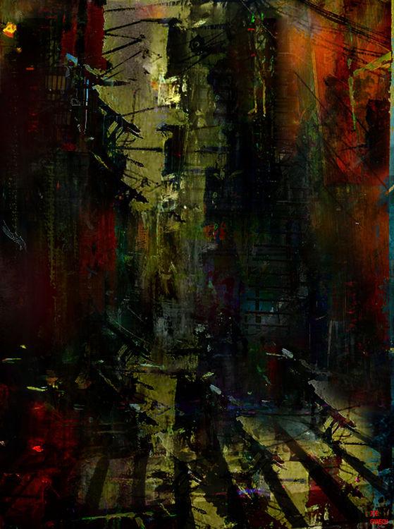 A street too quiet by Joe Ganech - search and link Fine Art with ARTdefs.com