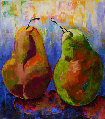 Pair of Pears by Margaret Brown - search and link Fine Art with ARTdefs.com