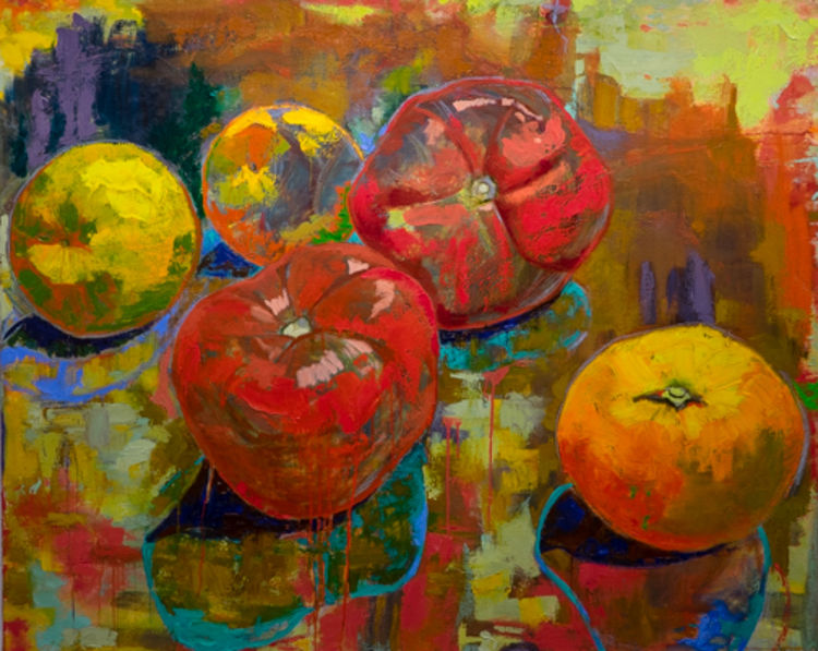Band of Plump Fruit by Margaret Brown - search and link Fine Art with ARTdefs.com