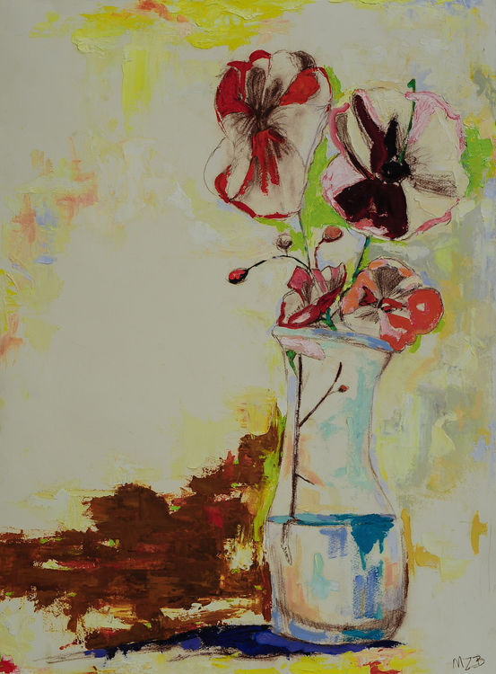 Still Life with Cockeyed Vase by Margaret Brown - search and link Fine Art with ARTdefs.com