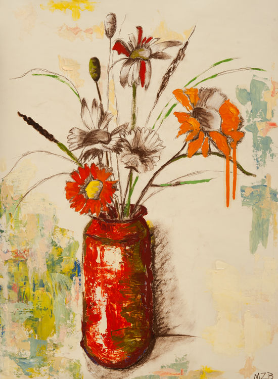 Still Life with Red Canister by Margaret Brown - search and link Fine Art with ARTdefs.com