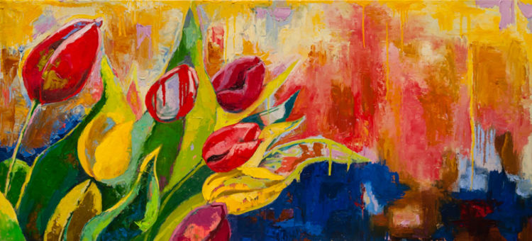 Flowing into Spring by Margaret Brown - search and link Fine Art with ARTdefs.com