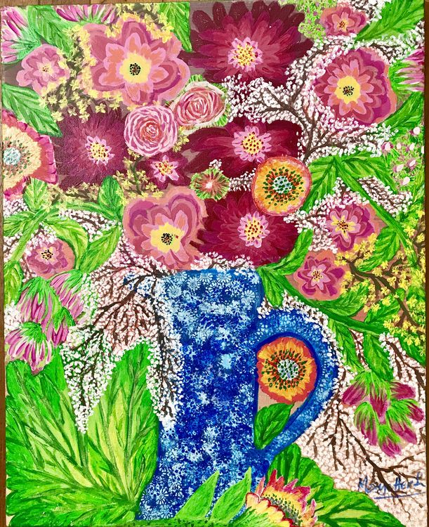 Springtime in a vase by Teresa R Laurente - search and link Fine Art with ARTdefs.com