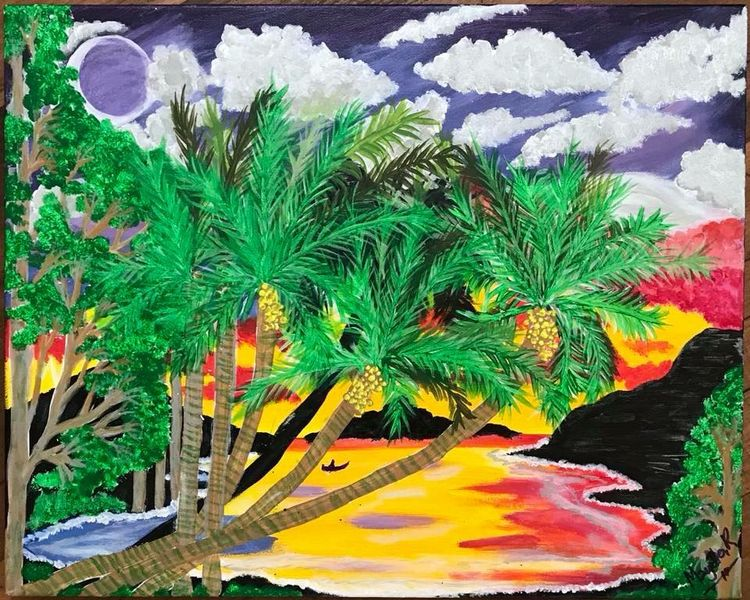 Tropical Dream by Teresa R Laurente - search and link Fine Art with ARTdefs.com