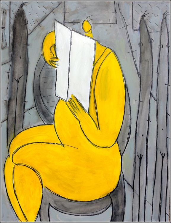 LA LECTURE by Jean Mirre - search and link Fine Art with ARTdefs.com