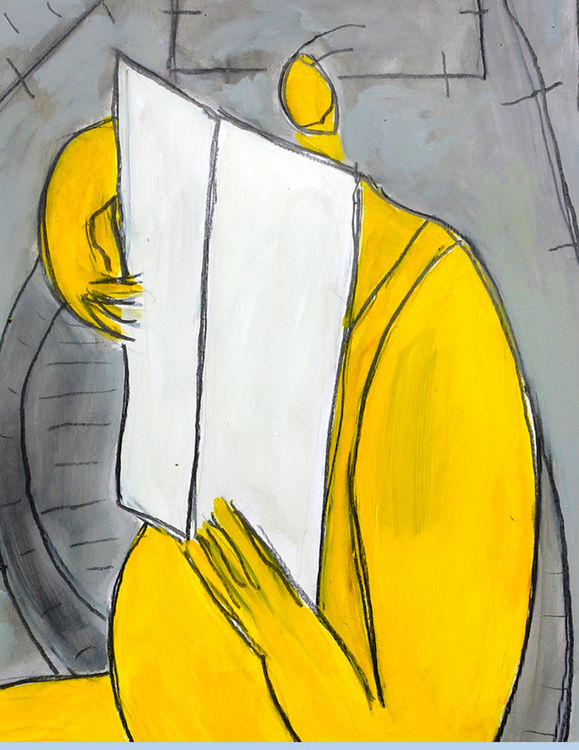 LA LECTURE by Jean Mirre - search and link Fine Art with ARTdefs.com